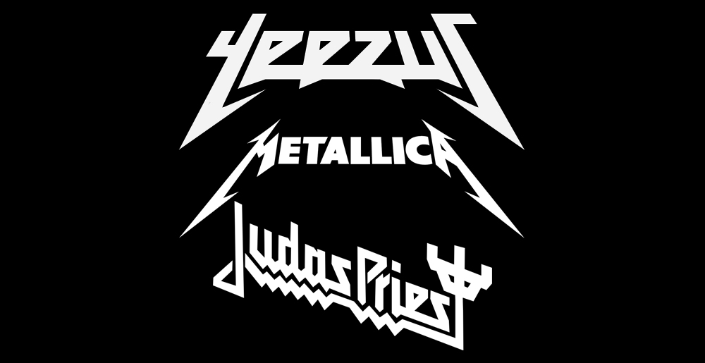 Kanye West Apes Metallica and Judas Priest for New Logo.