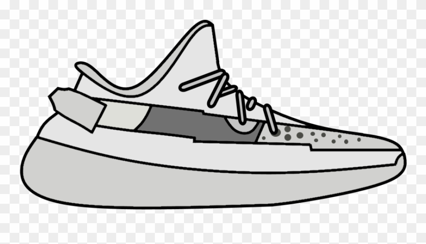 Yeezy Clip Art Black And White.