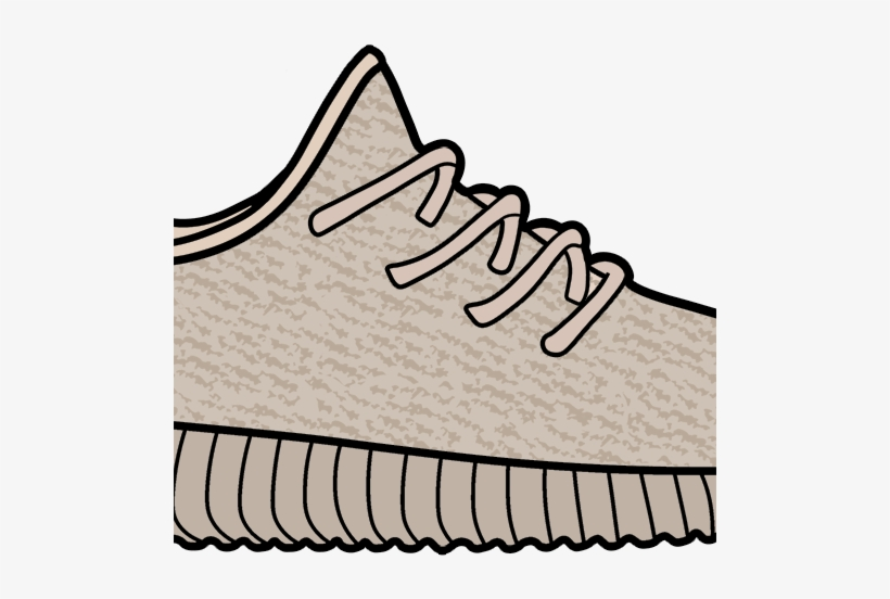 Yeezy Boost 350 Clipart Transparent PNG.