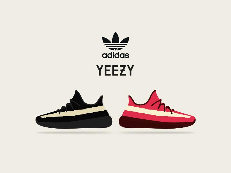 Adidas Yeezy 350 Vector.