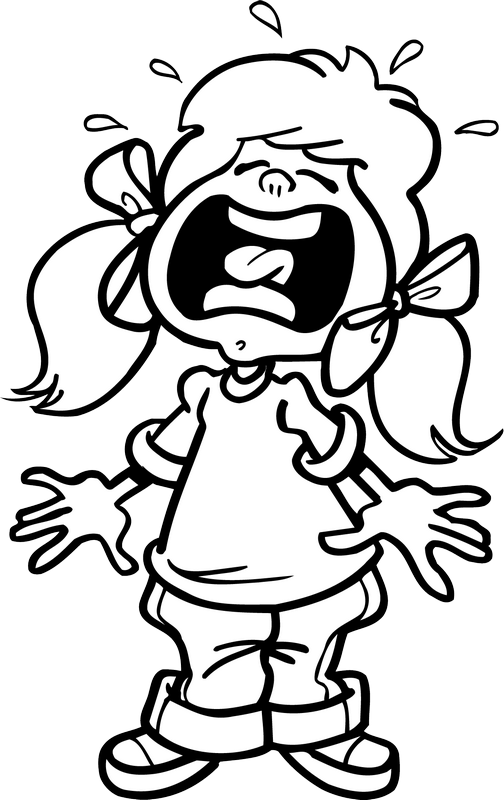 Yelling clipart black and white, Yelling black and white.