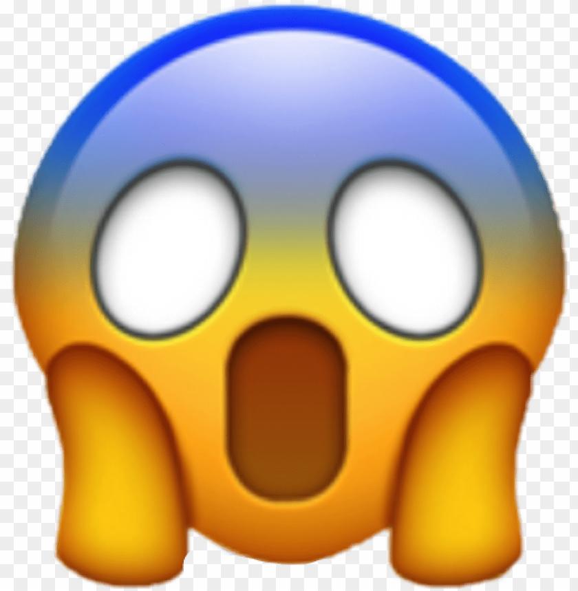 scream emoji png.