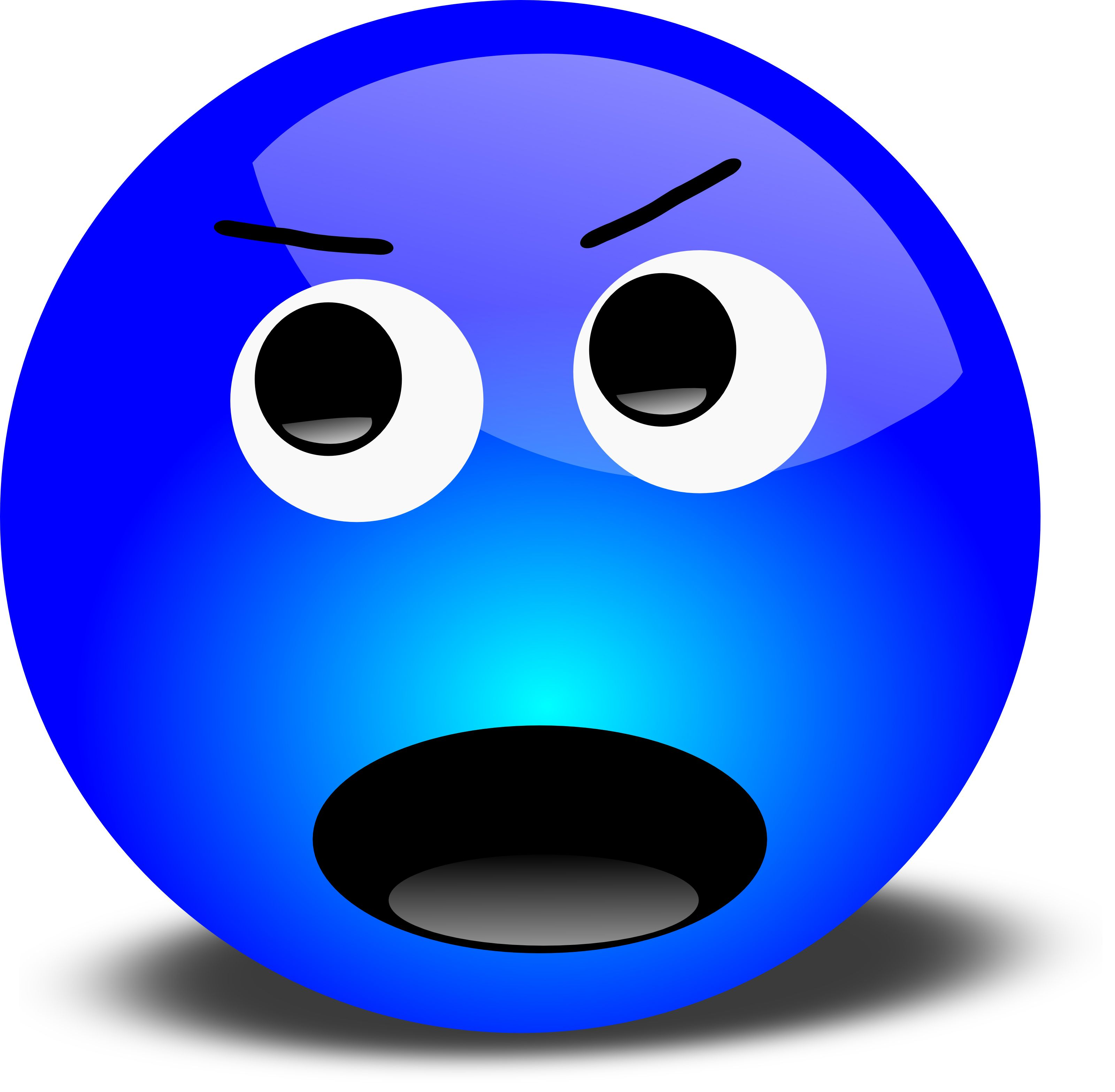 Clip Art Faces Emotions Frustrated.