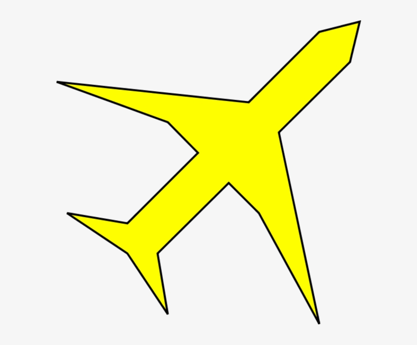 Airplane Clipart Yellow Airplane.