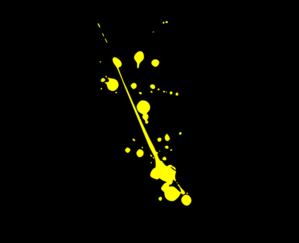 Yellow With Black Background Clip Art at Clker.