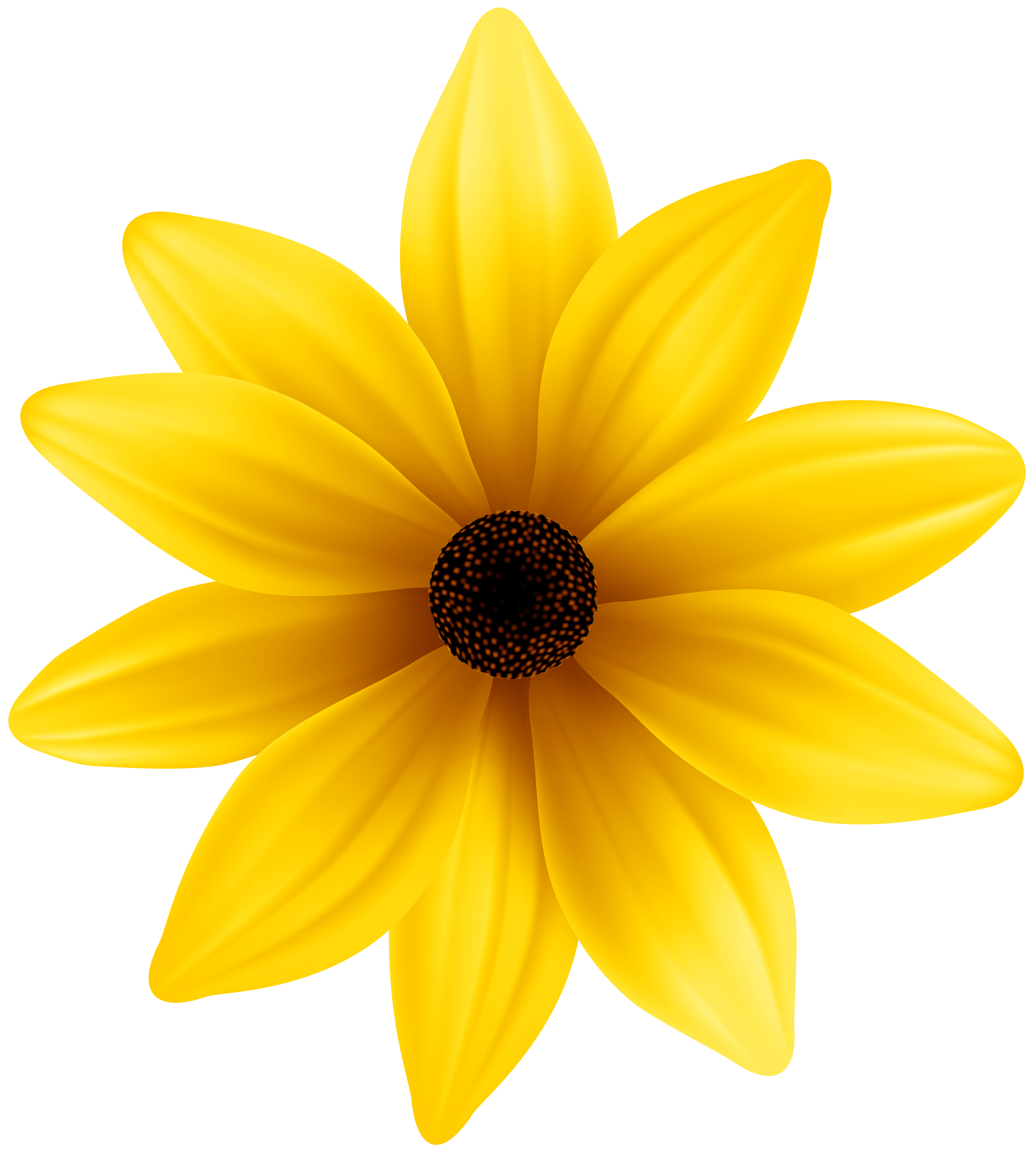 Yellow Flower PNG Clip Art Image.