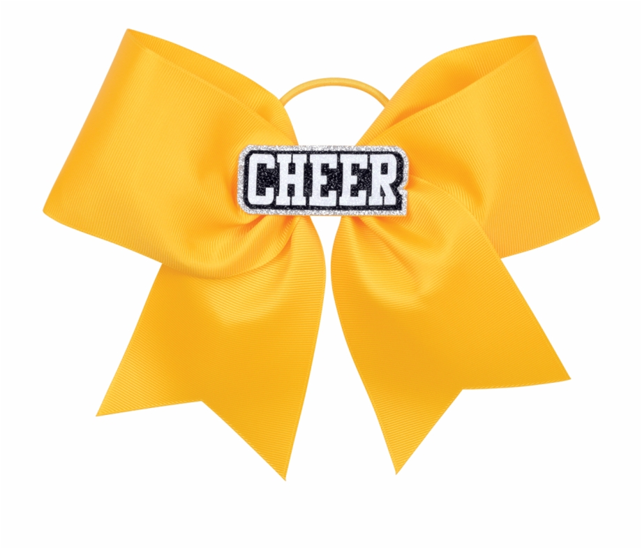 Black And Gold Cheer Bow.