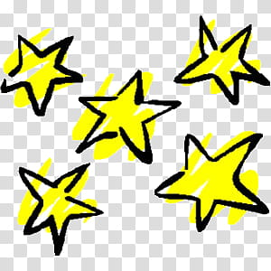 Various V, yellow stars illustration transparent background.