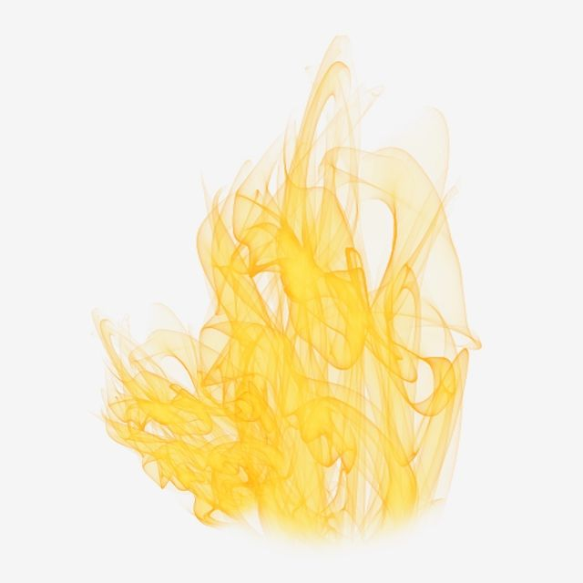 Golden Yellow Flame, Flame Clipart, Golden, Flame PNG.