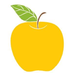 Yellow Apple Clipart.