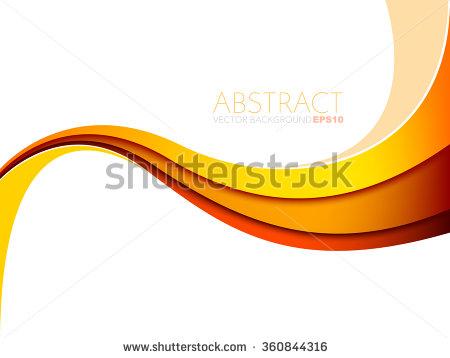 Yellow Orange Red Line Vector Background Stock Vector 360844316.