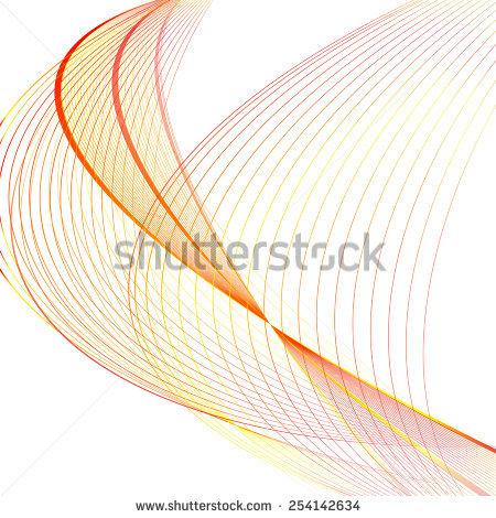 Abstract Red Line Orange Wave Yellow Stock Vector 209692495.