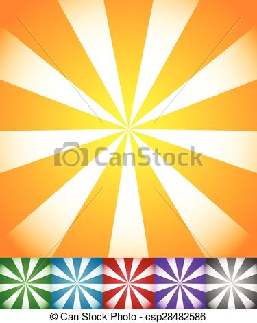 Vector of Radiating lines sun, star burst backgrounds. Set of 6.
