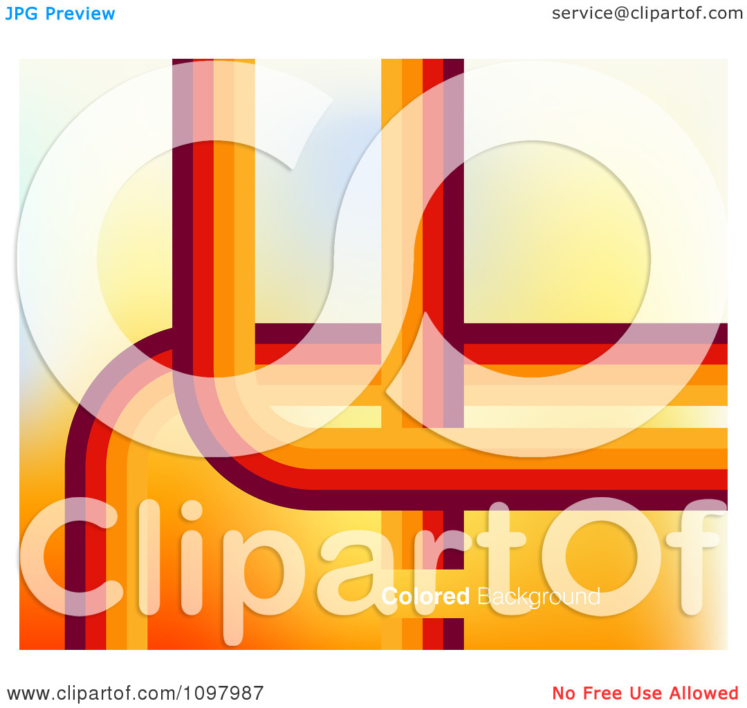 Clipart Background Of Orange And Red Lines And Curves With Sample.