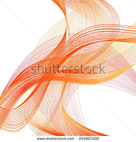 Abstract Orange Wave Red Line On Stock Vector 206256769.