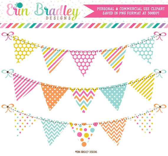 Bunting Clipart Graphics Digital Banner Flags Clip Art in.