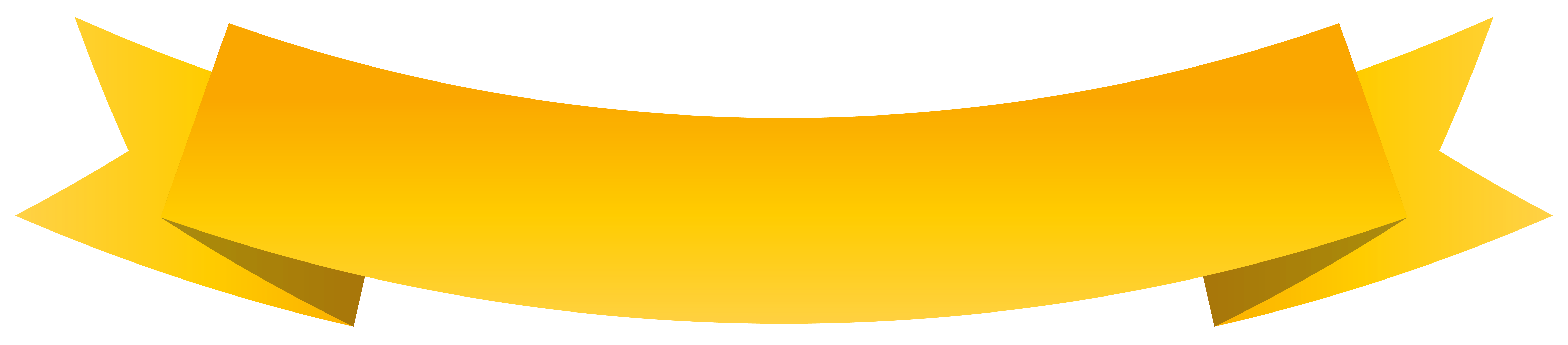 Ribbon Clipart Yellow.