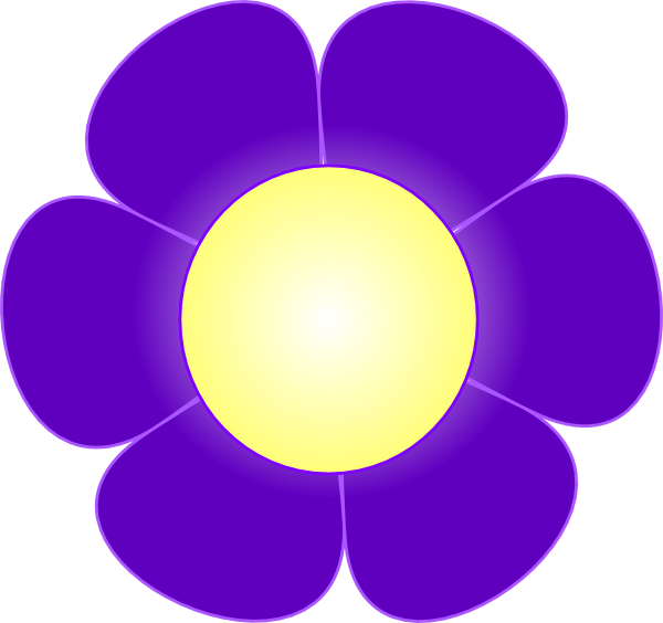 Yellow And Purple Flower Clipart Clipground