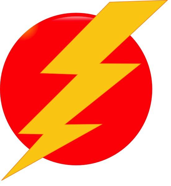 Red Lightning Bolt Clipart.
