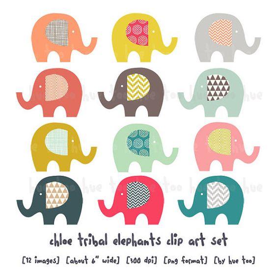 tribal elephant clip art elephants, girls elephant clipart.