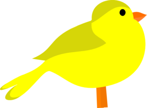 Yellow Bird Clip art.