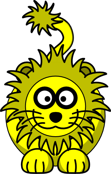 Yellow Lion Clipart.