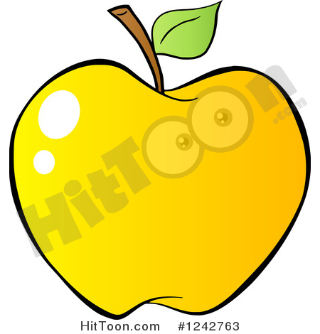 Apple Clipart #1242763: Gradient Yellow Apple by Hit Toon.
