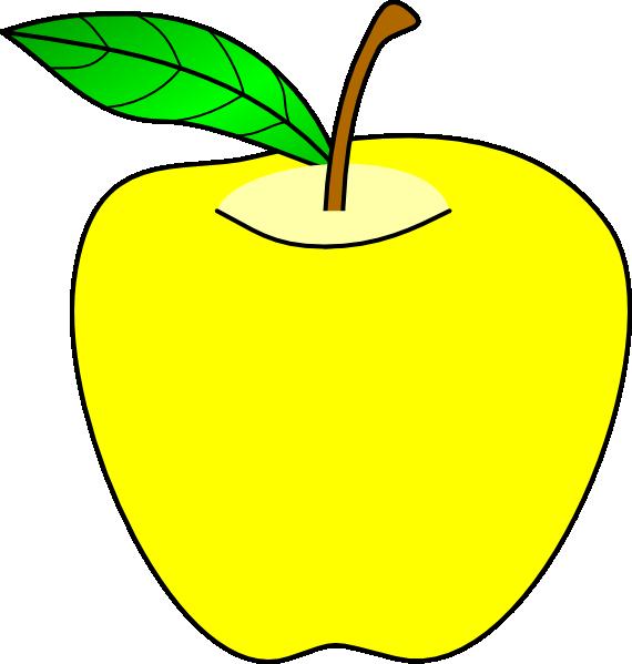 Yellow Apple Clip Art , Transparent Cartoon.