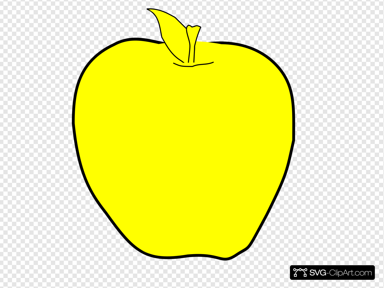 Yellow Apple Clip art, Icon and SVG.