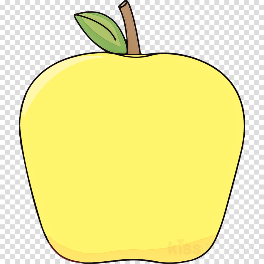 yellow apple fruit mcintosh plant clipart.