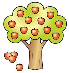Clipart of apple tree.