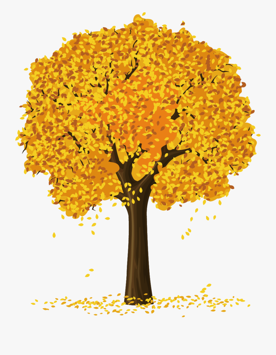 Yellow Clipart Apple Tree.