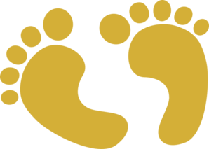 Gold Baby Feet Clip Art at Clker.com.