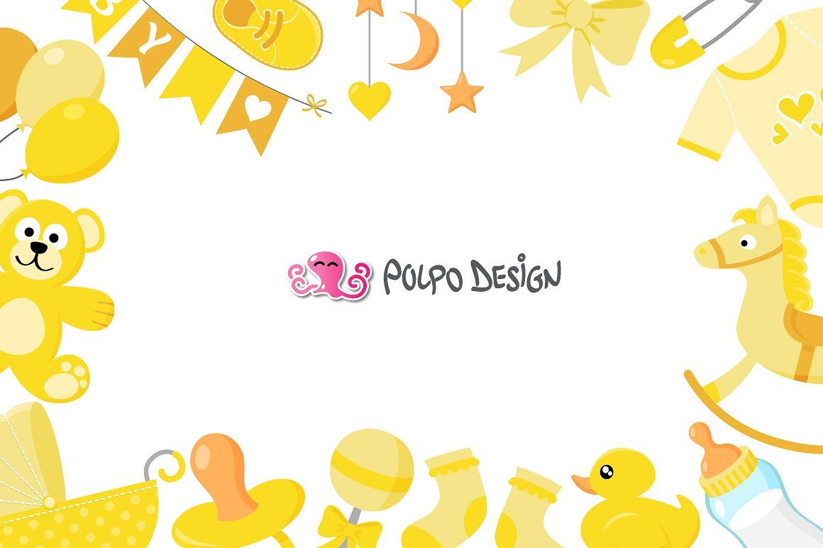 Yellow Baby clipart #pins#clothes#bib#banner in 2019.