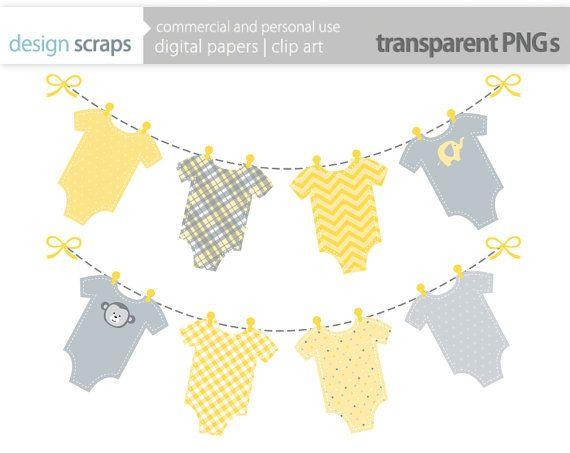 yellow baby banner clip art graphics, yellow t.