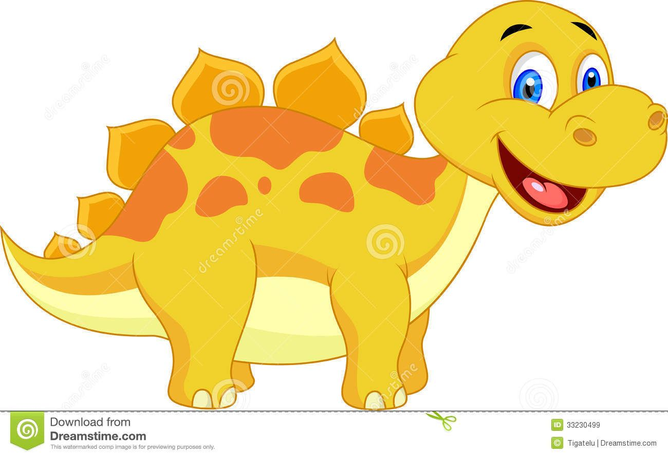 Illustration about Illustration of Cute dinosaur cartoon.
