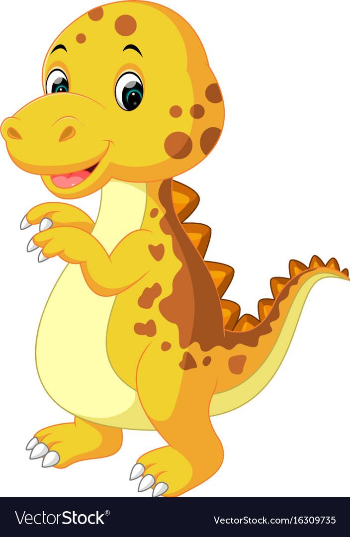 Cute baby dinosaur cartoon.