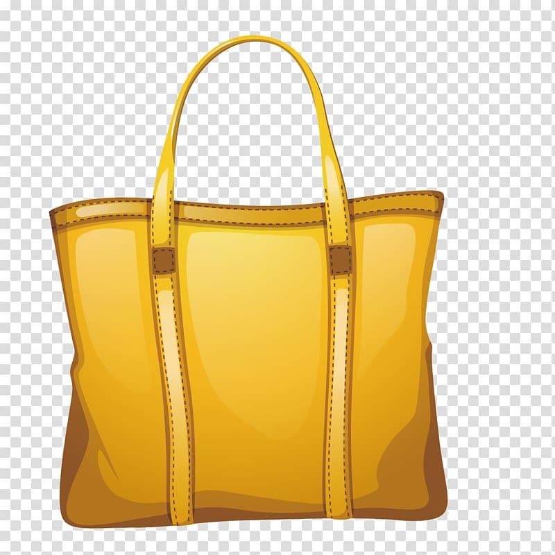 Bag , yellow bag transparent background PNG clipart.
