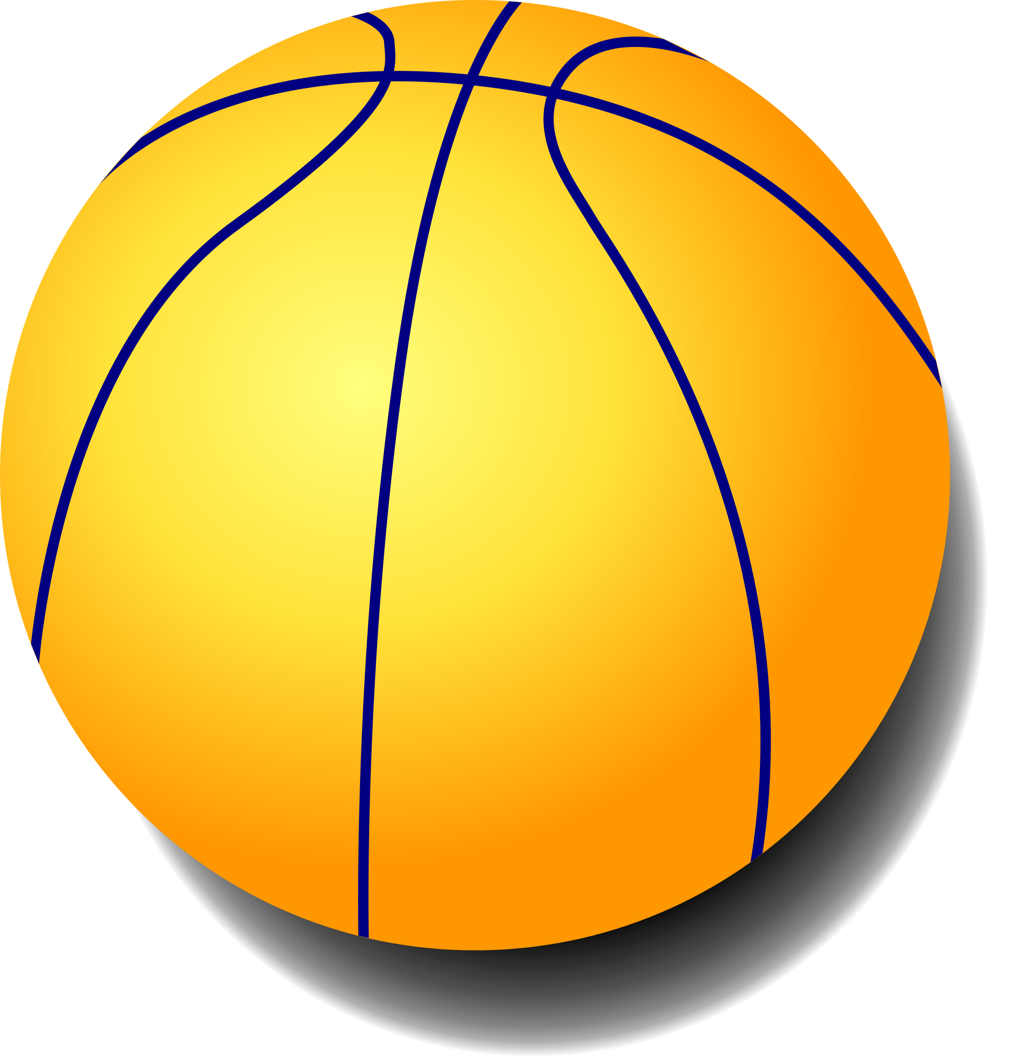 Yellow Ball Clipart.
