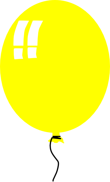 Yellow Balloon Clip Art at Clker.com.