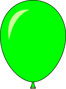 Green and yellow balloon clipart.