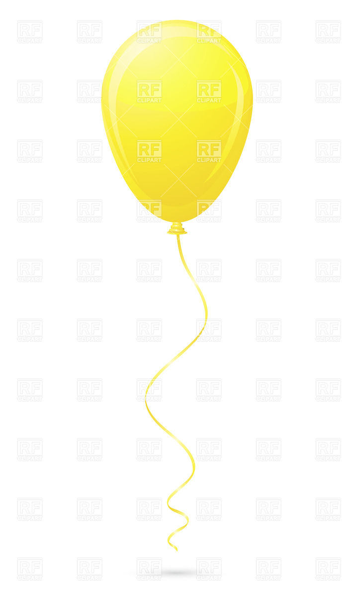 Yellow balloon Vector Image #21009.
