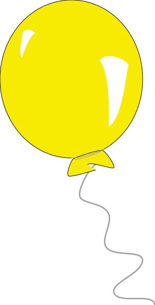 Yellow balloon clipart.