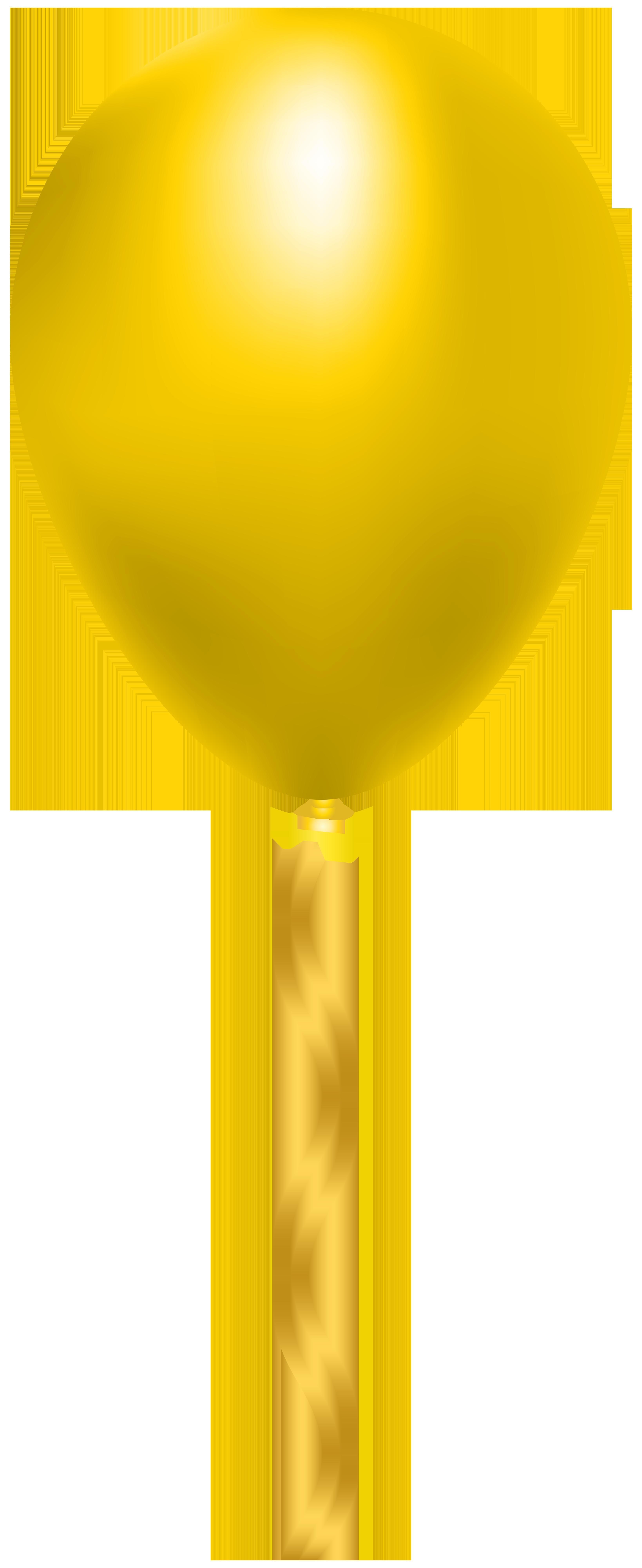 Yellow Balloon PNG Clip Art Image.