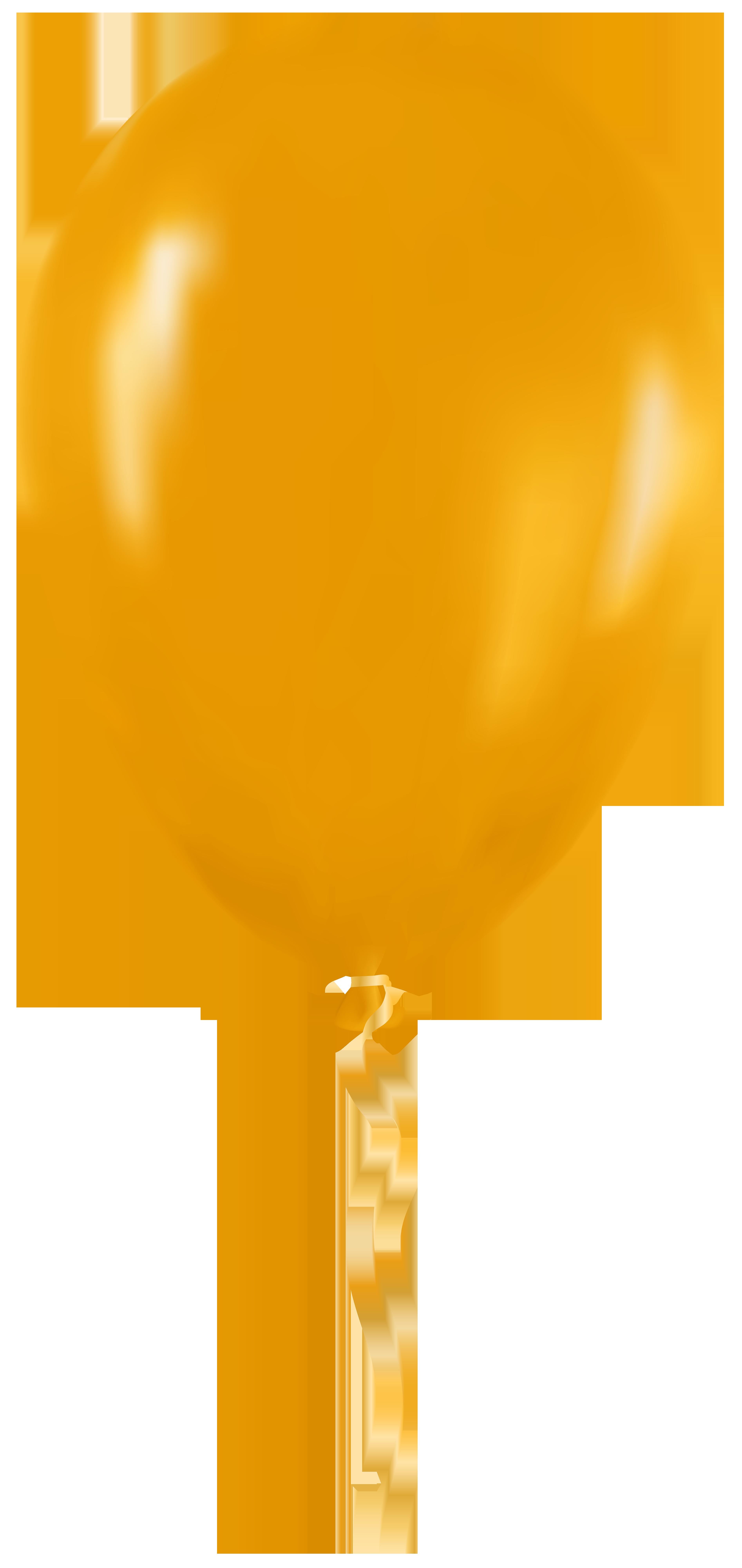 Yellow Balloon PNG Clip Art.