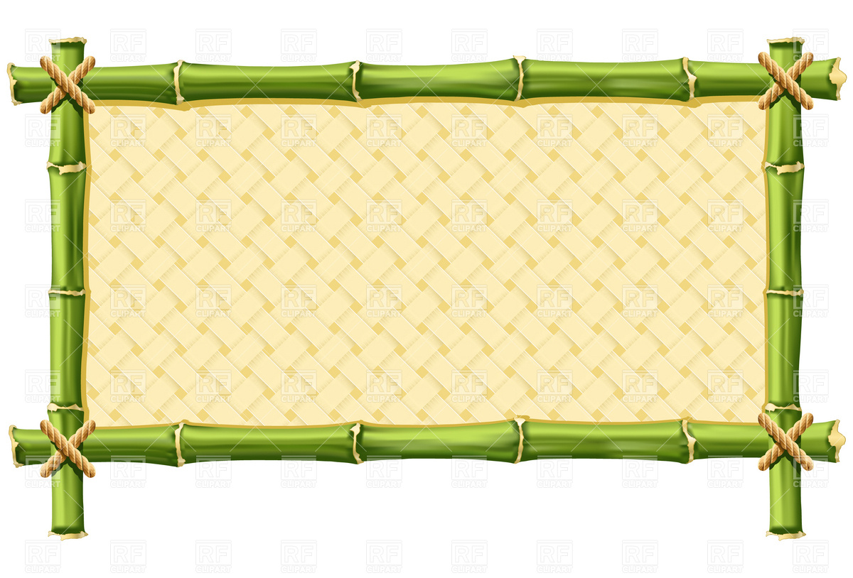 Photo Border Bamboo Clipart.