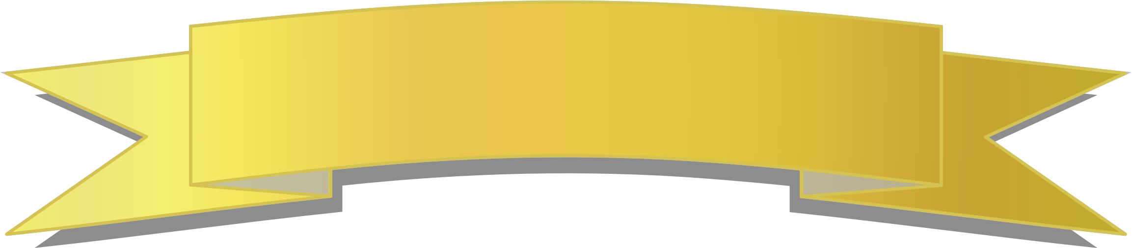 Yellow Banner Png.