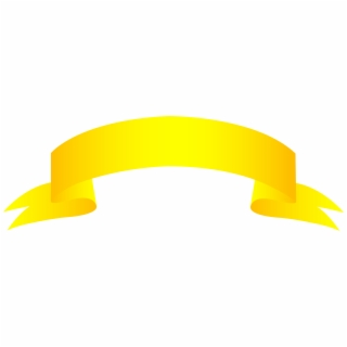 Yellow Banner PNG Images.