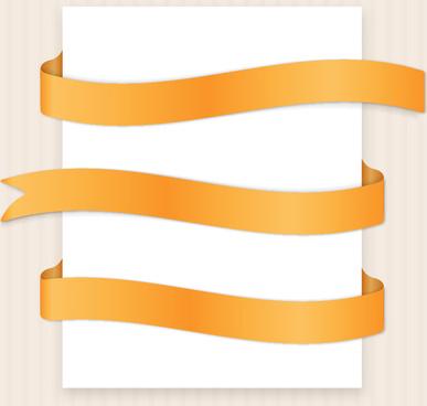 Yellow ribbon banner clip art vector free vector download.
