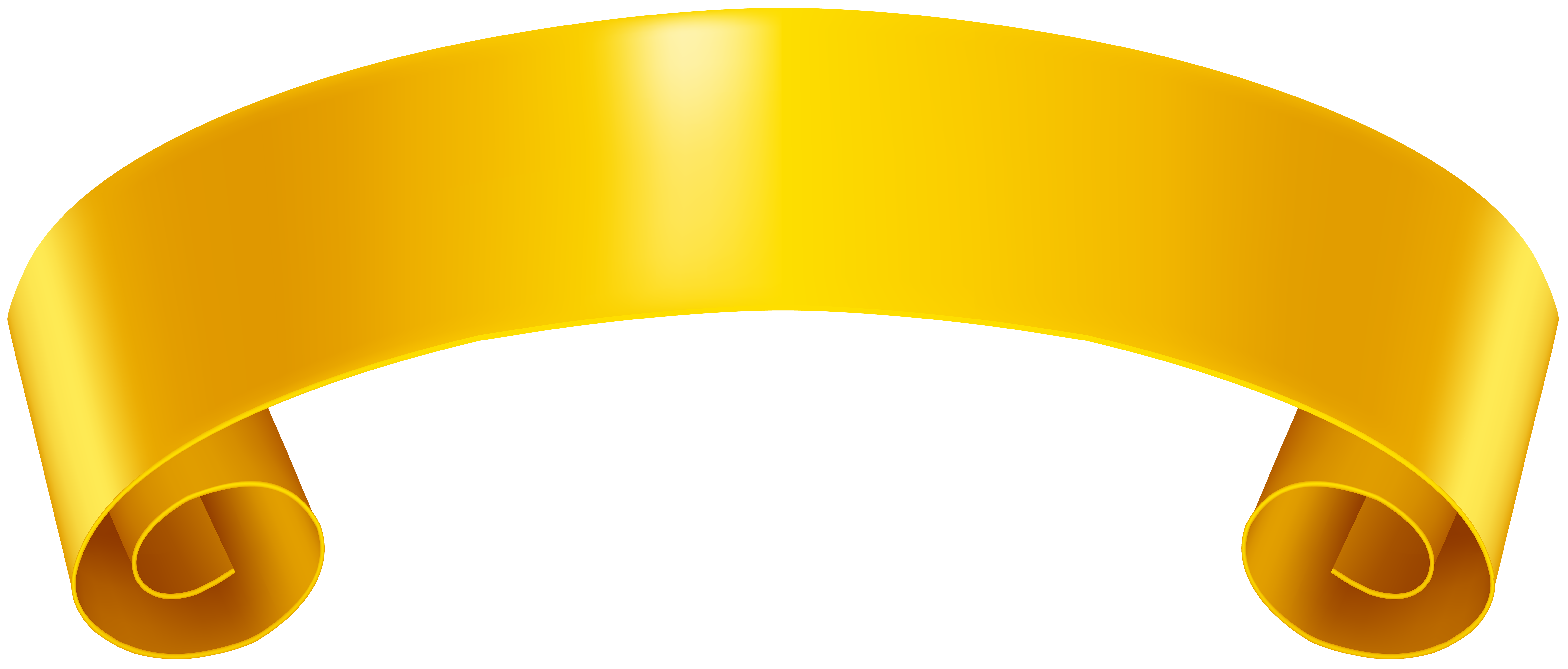 Yellow Banner Clip Art PNG Image.